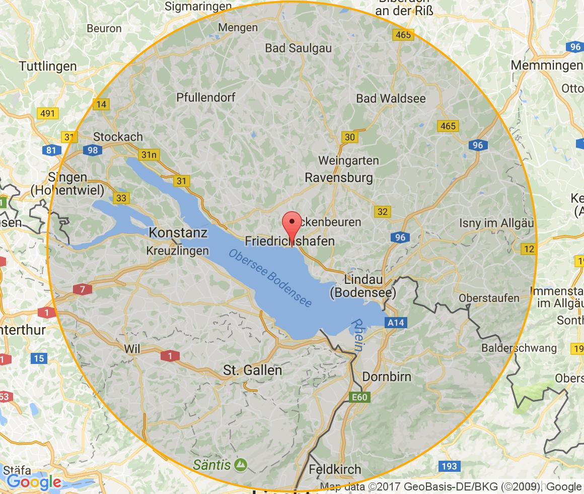 bodensee und umgebung karte JobZENTRALE und jobNEWS für den Bodenseekreis und Umgebung | Jobnet.AG